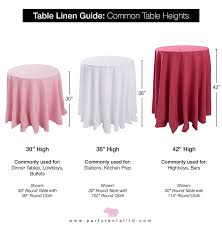 the lets talk linens the ultimate guide to table linen sizes party pertaining to 36 inch round tablecloth plan