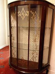 antique glass cabinet vintage mahogany china cabinet antique curved glass curio cabinet for