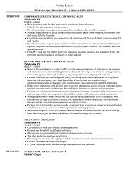 Relocation Resume Sample Relocation Specialist Resume Samples Velvet Jobs 6