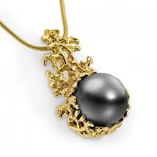 c 14k gold black tahitian pearl pendant necklace gold pearl necklace wedding black pearl pendant tahitian pearl necklace