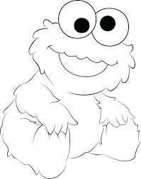Cookie Monster Color Cookie Monster Coloring Pages Free Printable