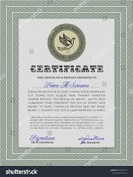diploma certificate template complex background vector stock  diploma or certificate template complex background vector illustration lovely design green