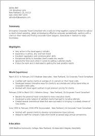 1 Corporate Travel Consultant Resume Templates Try Them Now