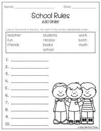 Alphabetical Order Abc Order Worksheet Freeibe Alphabetical Order Activtities 1st