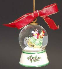 Jingle Bells Snowglobe - Boxed in the Spode Christmas Tree Misc-Orn pattern  by Spode