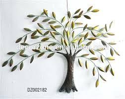 metal tree and leaf wall decor art branch kids room wallpaper