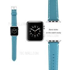 genuine leather watch strap replacement for apple watch series 4 44mm series 3 2 1