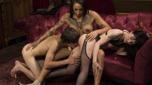 Charlotte Sartre in Honey Foxxx Corrupts Young Innocent Couple.