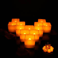 Fake Tea Lights Ebay 12pcs Flameless Candle Yellow Plastic Flickering Led Tea