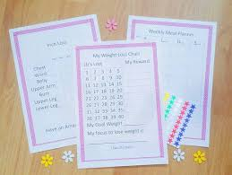 Printable Weight Loss Chart Inch Loss Chart Meal Planner