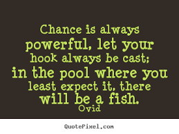 Powerful Quotes About Life Fascinating Ovid Picture Quotes Chance Is Always Powerful Let Your Hook