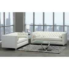 oz living furniture. Oz Modern Ivory Velvet Tufted Nailhead Sofa And Loveseat - Free Shipping Today Overstock 26658690 Living Furniture