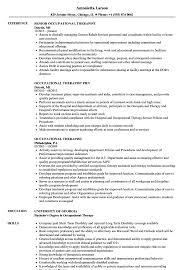 Occupational Therapy Resume Cool Occupational Therapist Resume Samples Velvet Jobs