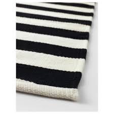 stockholm rug flatwoven handmadestriped blackoffwhite x
