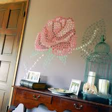 painted cross stitch diy wall mural