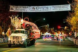 Lighted Tractor Parade Annual Calistoga Lighted Tractor Parade Is Dec 7 News