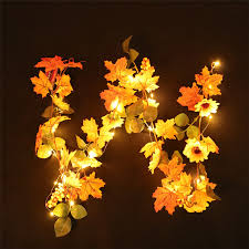 Fall Garlands With Lights Halloween Decor Garland 1pc Halloween 1 8m Led Lighted Fall