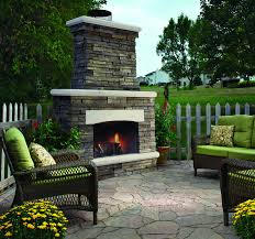 image of prefab outdoor gas fireplace