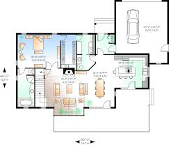 Contempory Style House Plans   Plan   Main Floor Plan