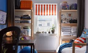ikea dorm furniture. The Back Wall Of A Dorm Room With Shelving Filled Bedding, Make Up, Ikea Furniture