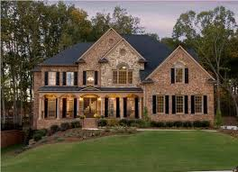 superb exterior house lights 4. Charming LED Mounted Light And Black Window Color For Elegant Brick House Exterior Makeover Ideas With Superb Lawn Lights 4