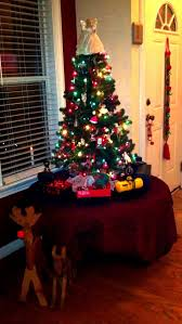 Christmas $$$ saving tip: Use a pre-lit 4ft Christmas Tree, sale price  @19.99 (Michaels Arts & Crafts carries them. Pictured above is their tree.