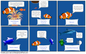 Finding Nemo Plot Chart Finding Nemo Heroic Journey Part 1 Storyboard By Rebeccaray