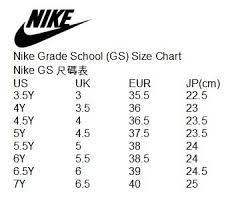 Nike Jordan Gs Size Chart Best Picture Of Chart Anyimage Org