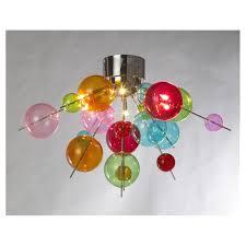 6 lamp multicoloured ball chandelier