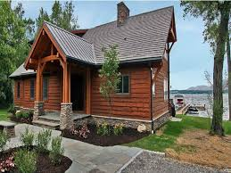image of small lake house plans with screened porch view