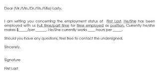 Sample Proof Of Employment Letter Sample Employment Verification Request Letters Replies