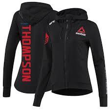 Women S Champion Hoodie Size Chart Women S Reebok Stephen Thompson Black Ufc Fight Night Walkout Hoodie Replica