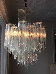 25 vintage hollywood regency murano camer venini era tronchi glass chandelier