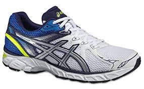 Asics Gel Chart 2 Mens Running Shoe In White Silver Blue 13