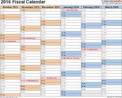 July 2015 To June 2016 Calendar Template Fiscal Calendars 2016 As