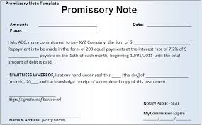 Promissory Note Free Business Template For Ms Word Or Pdf