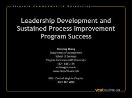 PPT - Leadership Development and Sustained Process Improvement Program  Success PowerPoint Presentation - ID:683408
