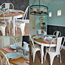 white metal farmhouse style chairs for the kitchen