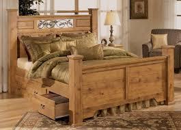 wood rustic king size bedroom sets