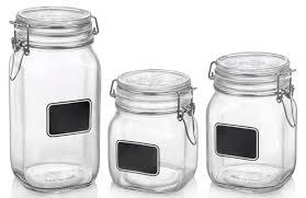 bormioli rocco glass fido jars with chalkboard labels