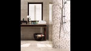 Kleines Modernes Badezimmer Interieur Mosaik Fliesen Weiß Blau