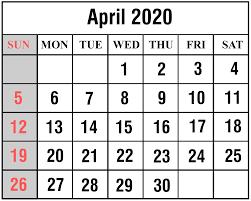 Free April May 2020 Calendar Printable Templates