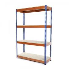 heavy duty shelving racking blue and orange 4 levels 1800 x 900 x 600 racking solutions