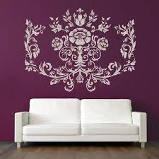headboard wall decal thistle flower wall sticker headboard wall decal master bedroom home decor headboard wall headboard wall decal