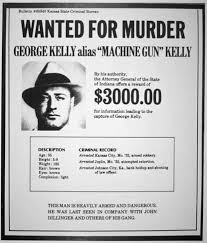 Criminal Wanted Poster Fascinating Wanted Poster For George R 'MachineGun' Kelly Giclee Print At