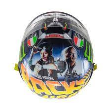 Helmet collection of valentino rossi through out his racing carrer. Misano Valentino Rossi Helmet 2018 Exposed Marty Mcfly Approves