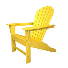 south beach recycled plastic adirondack chair polywood outdoor plastic furniture lemon
