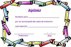 Diplomas Escolares Infantiles Para Niños Para Imprimir Y