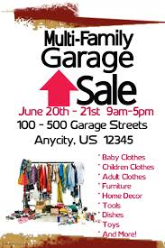 Muirli Family Garage Sale Template Postermywall