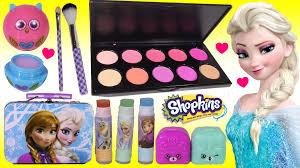 disney frozen anna elsa lip balm set makeup blusher palette cosmetic kit kins season 5 you